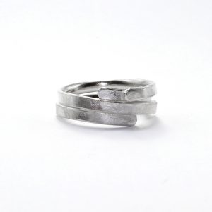 Silver plain wrapped ring